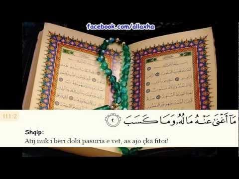 Sure El-Mesed Me Titra Shqip Muhamed Luheidan