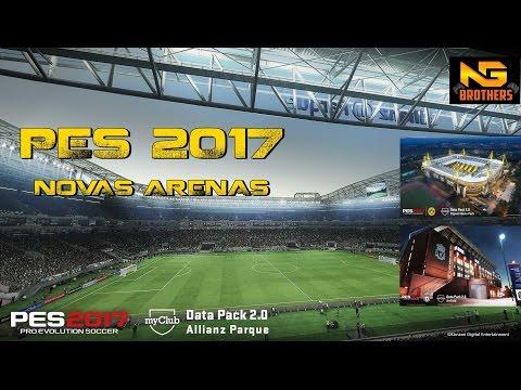Allianz Parque,Anfield,Signal Iduna Park AtualizaçãoPES 2017 Data pack 2.0 Konami .