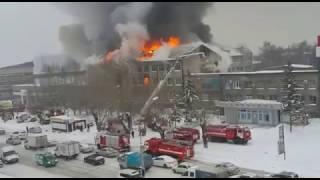 Пожар в Барнауле. Радиозавод