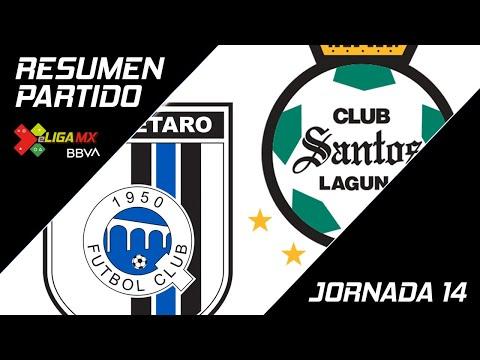 Resumen   Querétaro 2 - 3 Santos Laguna   eLiga MX - Clausura 2020 - Jornada 14   LIGA BBVA MX