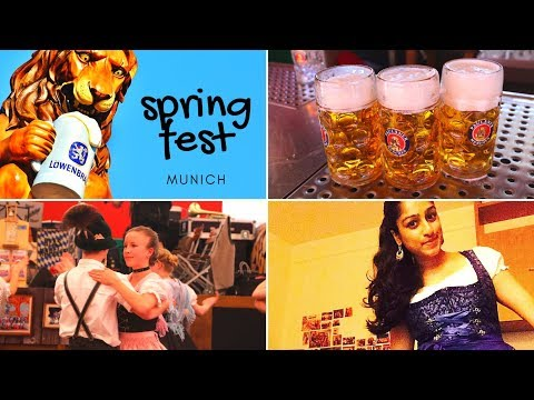 Celebrating The Bavarian Festival Of SPRINGFEST In Munich, Germany!