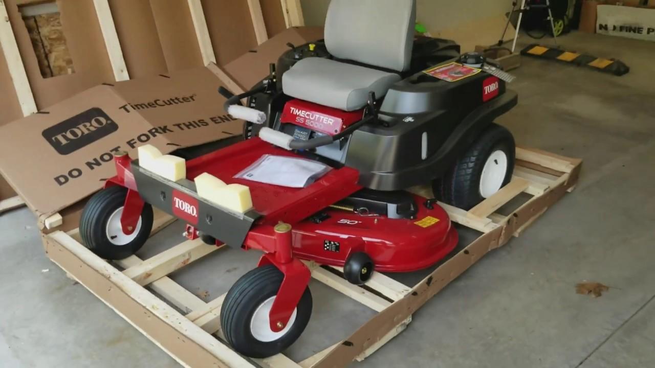 toro timecutter ss5000 unboxing 42 inch toro zero turn toro timecutter ss5000 lawn mower