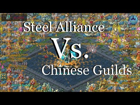 Lords Mobile : Steel Alliance Vs. 4 Chinese Guilds BARON Noon Fight