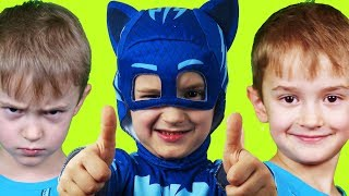 У Давида есть Супер Способность! Герои в Масках помогли Давиду! PJ маски и фильм про героя