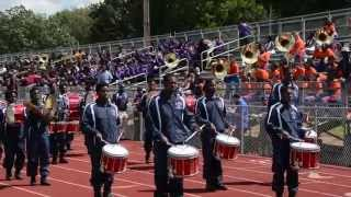 Lane College Marching Band - Bloody Rain Percussion Feature - 2015