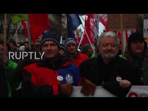 Hungary: Thousands march in Budapest to protest against 'sla