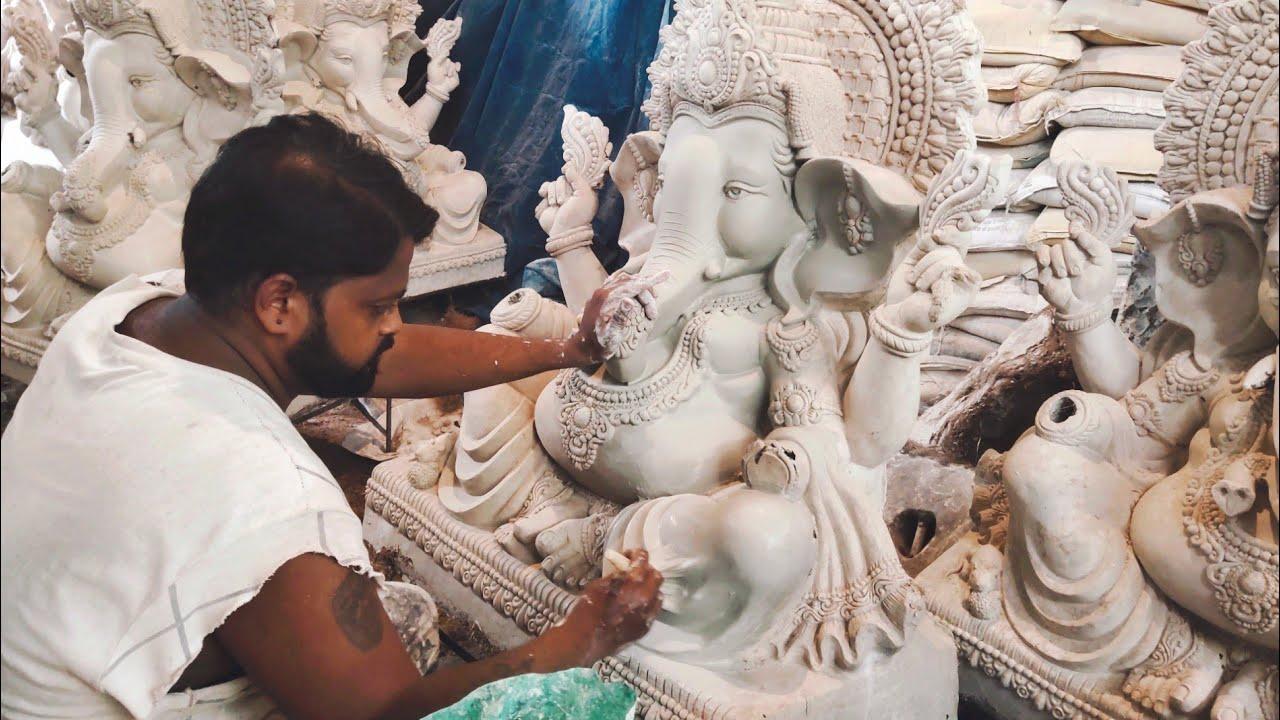 Dhoolpet Ganesh idols making 2020 | Dhoolpet ganesh 2020 | Small Ganesh Making | Dhoolpet Ganesh