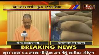 Lucknow : किसानों  को CM Yogi का तोहफा, धान का समर्थन मूल्य 1770 किया