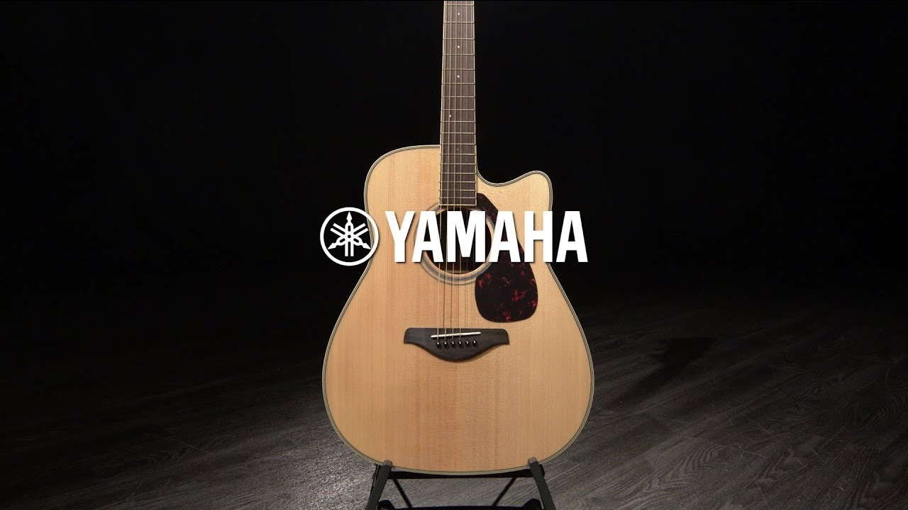 Yamaha Fgx820c Electro Acoustic Guitar Natural Gear4music Demo