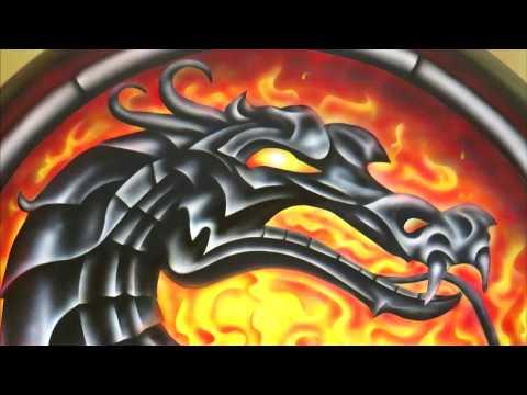 Аэрография дракон на авто Rav4 рисунок Mortal Kombat