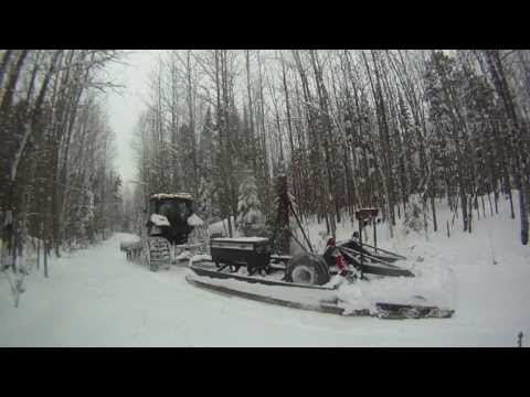 CASE IH Maxxum 125 - Grooming Mattawa Snowmobile Club Trails