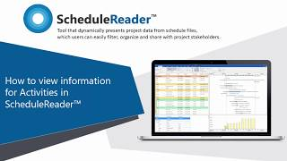 How to view information for activities in ScheduleReader