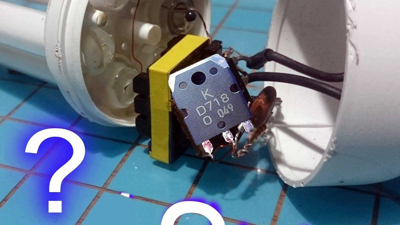 Simple inverter circuit diagram using 1 transistor running