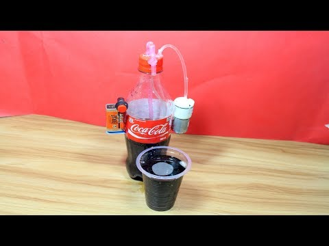 How To Make  Cocacola Drink Dispenser -DIY Desk  Cocacola Drink Cooler