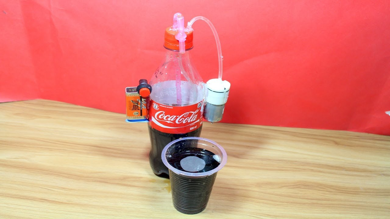 How To Make Cocacola Drink Dispenser Diy Desk Cooler