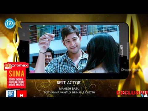SIIMA 2014 Best Actor in Telugu    Mahesh Babu    SVSC