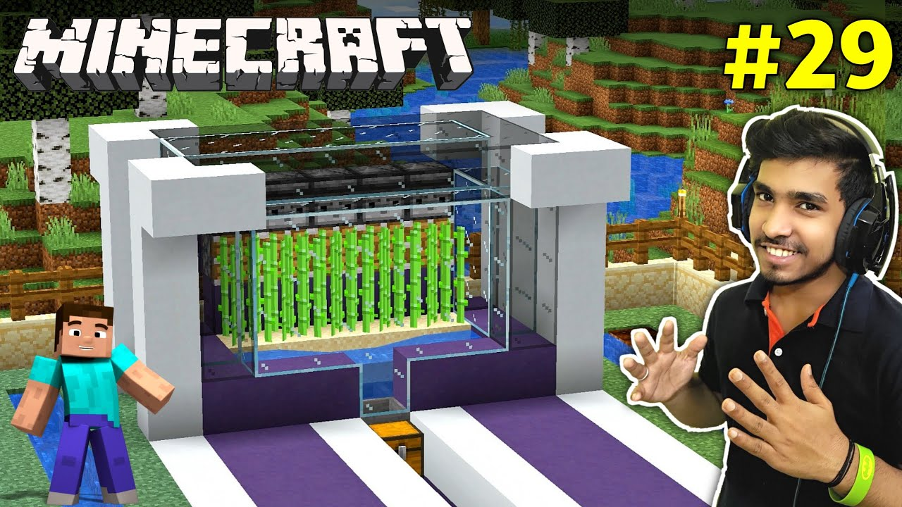 Download I PLANTED AUTOMATIC SUGARCANE FARM | MINECRAFT GAMEPLAY #29