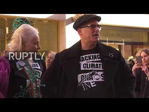 UK: Vivienne Westwood holds anti fracking fashion show