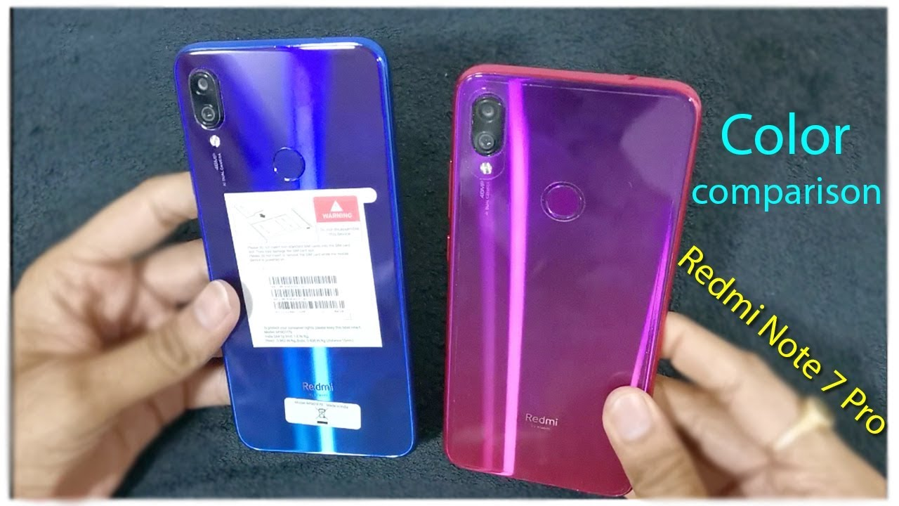Redmi Note 7 Pro Color Comparison Redmi Note 7 Pro Neptune Blue Nebula Red Color Search Share Youtube