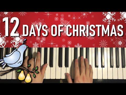 Twelve Days Of Christmas (Piano Tutorial Lesson)