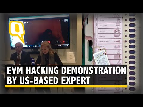 Can India's EVMs be Hacked? Demonstration by Expert in London