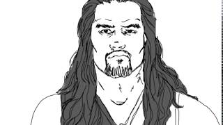 Just How To Draw People Roman Reigns From WWE Drawing Tutorial