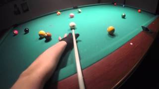 Head Cam 8-ball 4 racks run with distraction