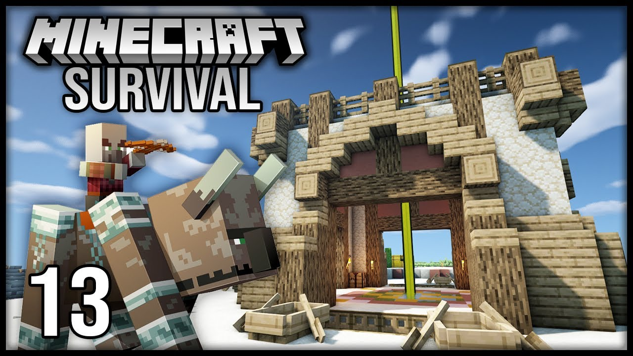 Minecraft 1.17 Survival Let's Play - Episode 13 - Taking on my FIRST SOLO RAID!