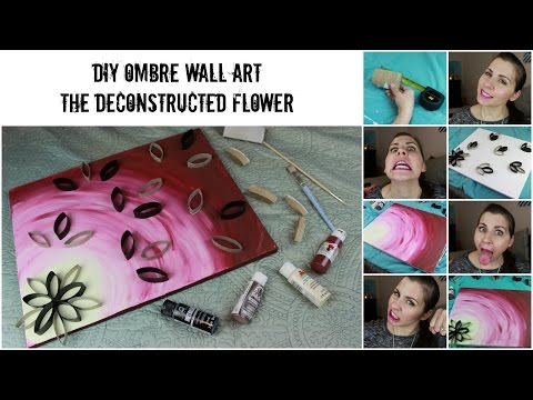 DIY Wall Ombre Painted Canvas 2 | Deconstructed Flower