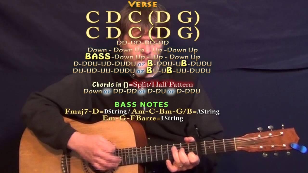 Pillowtalk Zayn Guitar Lesson Chord Chart Capo 4th Youtube