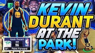 Kevin durant mvp at the park! new demi god alert?? nba 2k17 mypark