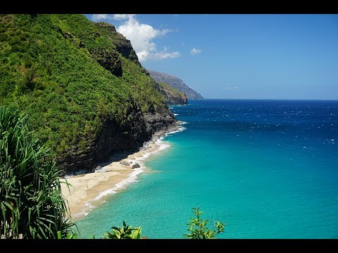 Hanakapiai Beach, Kauai - NaPali Coast (Aerial 4K HD)