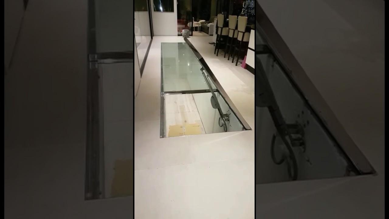 Estructura de cristal pisable con puerta elevadora youtube - Cristal climalit precio ...