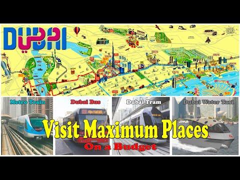 Dubai Cheap Tour 2020 | Famous Places near Metro Stations | AN Vlogs