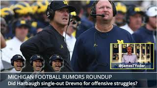 Shea Patterson, Jim McElwain, Jim Harbaugh and Tim Drevno are the b...