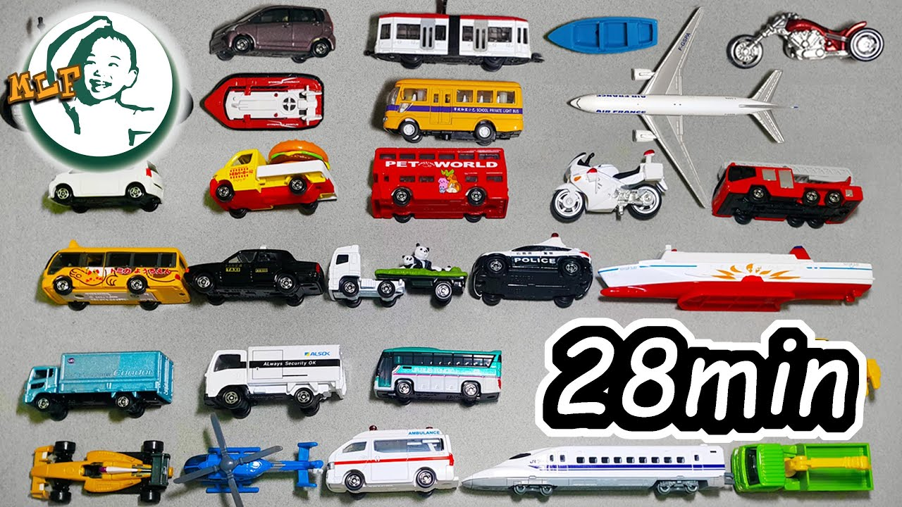 what can learn from car toys car names counting color occupation collection video 27 min