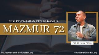Download SAAT TEDUH - MAZMUR 72 Bersama Ps. Dr. Henry Parera