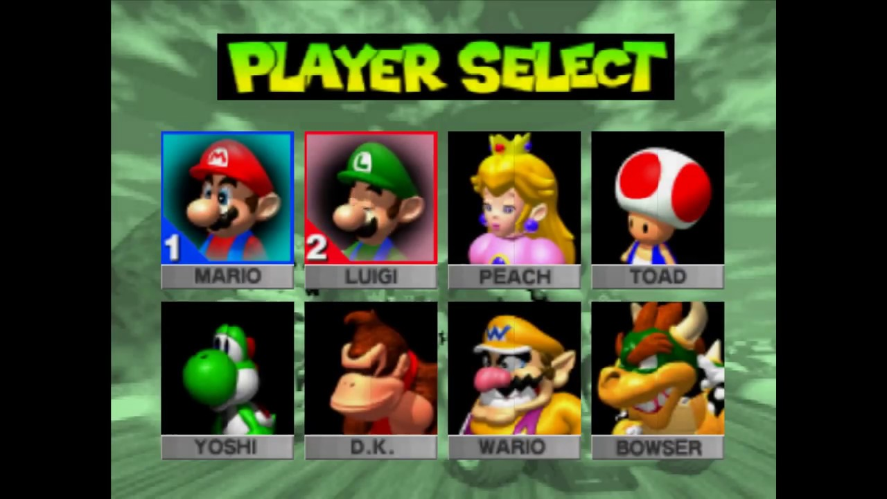 Mario Kart 64 Nintendo 64 2 Players Gameplay Race Battle