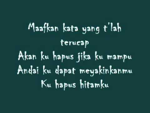 Hitamku -- Andra and The Backbone (lyric)