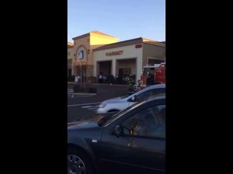 Car on Fire @ Raleys In Elk Grove