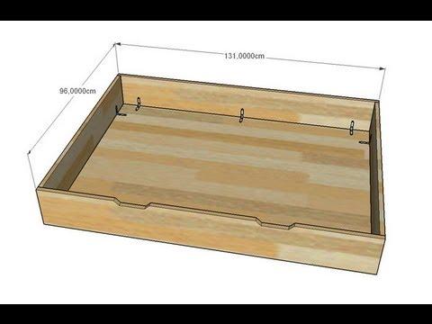faire un tiroir de rangement pour lit evolutif