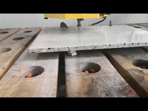 Terrazzo countertop cutting