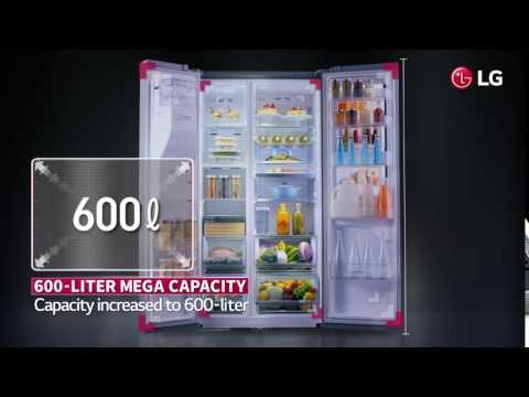 LG GSL760PZUZ Ψυγείο Ντουλάπα 625lt NoFrost Υ179xΠ91.2εκ.