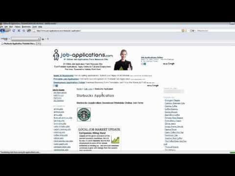 Starbucks Job Application Online Youtube
