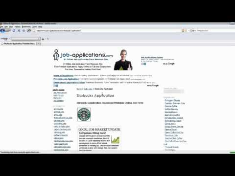 Starbucks Job Application Online