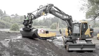 Volvo E-series wheeled excavators: efficient and versatile