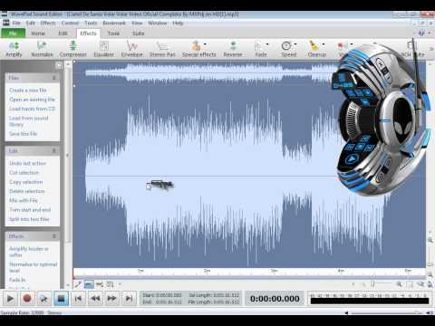 tutorial para usar wavepad sound editor (tutorial en español)