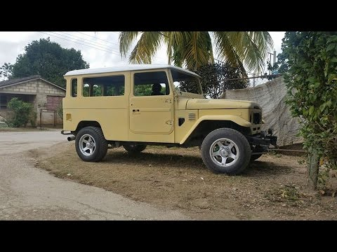 my trip to cuba and a toyota land cruiser 40 restoration done by ernesto sierra. Black Bedroom Furniture Sets. Home Design Ideas