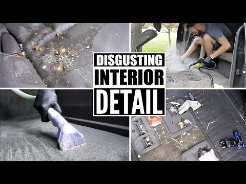 Complete Disaster Full Interior Car Detailing Transformation! Dirtiest Car Detailing Series Ep. 2