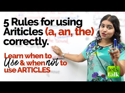 5 Advanced Rules to use Articles (an, an, the) correctly   Mistakes with Articles   English Grammar